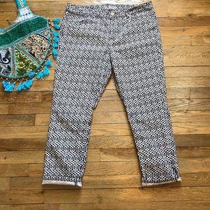 Fun Print Tommy Hilfiger Ankle Jeans